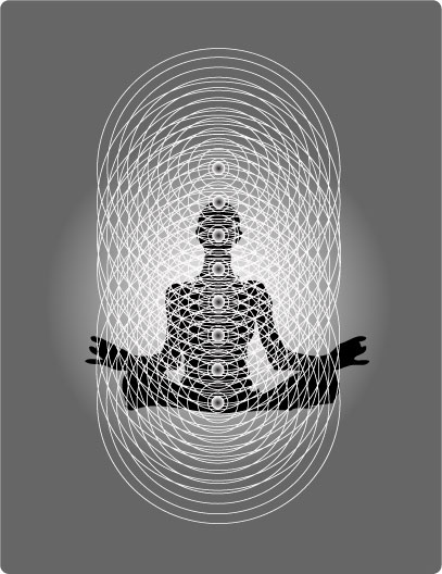From Book One on the Regenetics Method, [url=http://www.potentiateyourdna.com/books/conscious-healing]Conscious Healing[/url]: The Human Bioenergy Blueprint. From the perspective of quantum biology, the human body is a hologram composed of intersecting lines of bioenergy. The above figure shows how the vertical, light-processing [i]chakras[/i] interface with the horizontal, sound-generated bioenergy fields to create the geometric matrix necessary for physical manifestation.