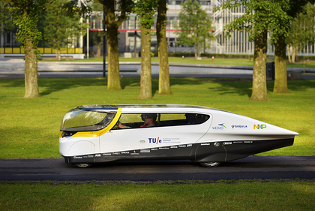 Stella, world's first solar-powered family car. Credit: Bart van Overbeeke.